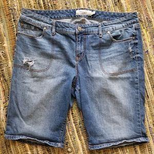 Distressed Torrid Plus Size Bermuda Shorts sz 20